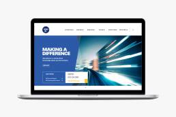 Laptop displaying website