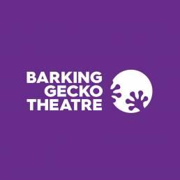 Backing Gecko Theatre logo