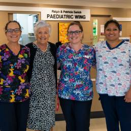nurses in the paediatric wing