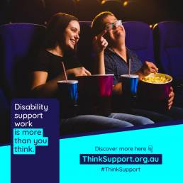 Disability support advert by Think Support